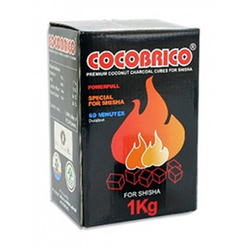 Uhlíky do vodnej fajky CoCoBrico 1kg pre vodné fajky