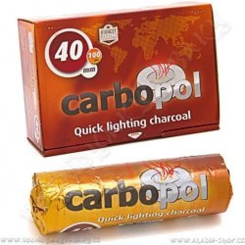 Uhlíky do vodnej fajky Carbopol 40 mm 1 x 10 pre vodné fajky