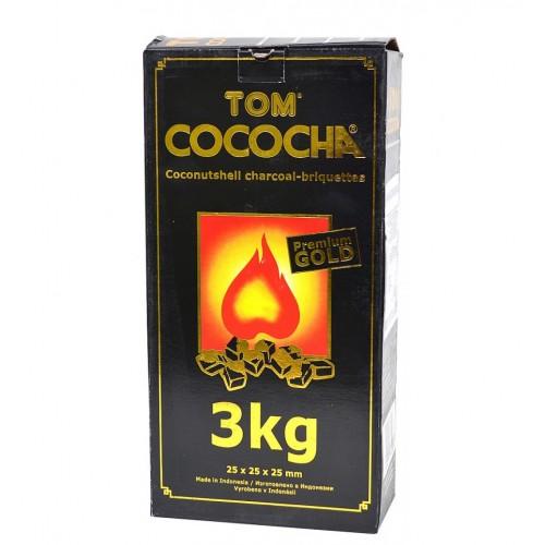 Uhlíky do vodnej fajky Tom Cococha 3 kg GOLD pre vodné fajky